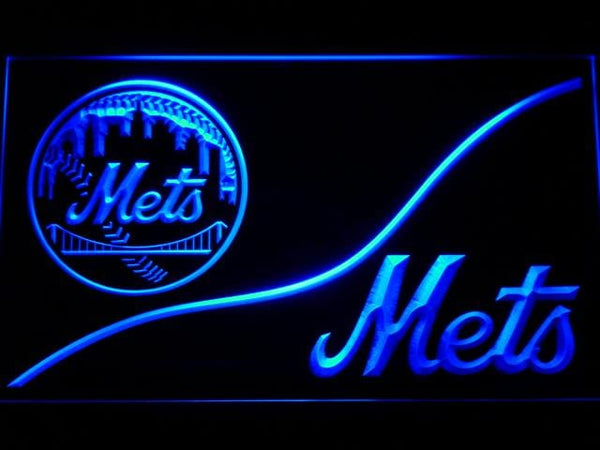 New York Mets Split Baseball LED Neon Sign b537 - Blue