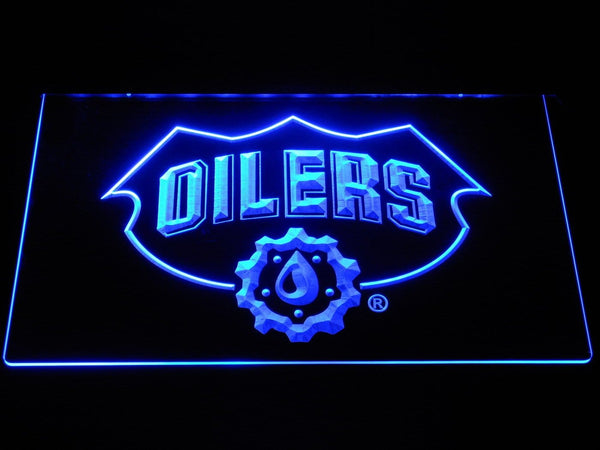 Edmonton Oilers NHL LED Neon Sign b546 - Blue