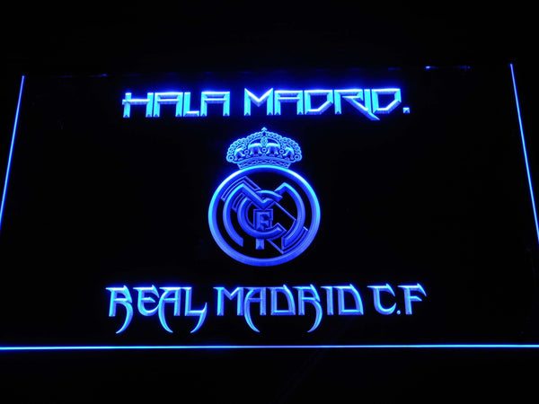 Real Madrid CF Football LED Neon Sign b548 - Blue