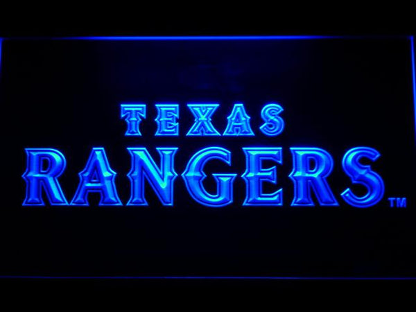 Texas Rangers Text MLB LED Neon Sign b560 - Blue