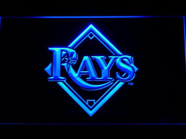 Tampa Bay Rays Baseball LED Neon Sign b566 - Blue
