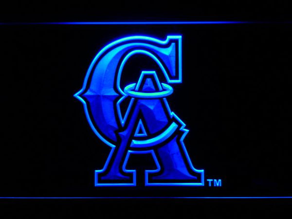 Los Angeles Angels of Anaheim 1995-1996 Logo LED Neon Sign b618 - Blue