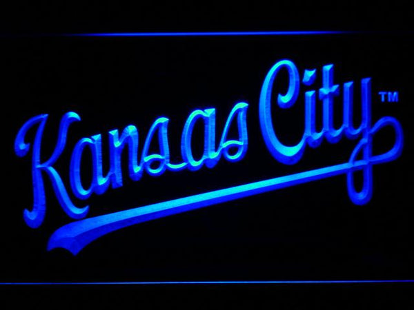 Kansas City Royals 2006-2011 LED Neon Sign b628 - Blue