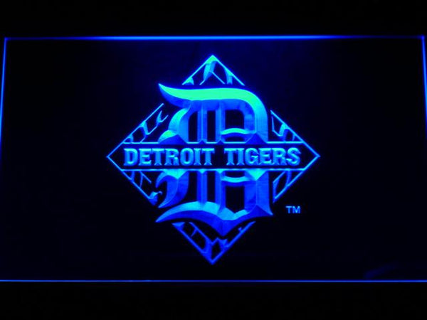 Detroit Tigers Baseball LED Neon Sign b638 - Blue