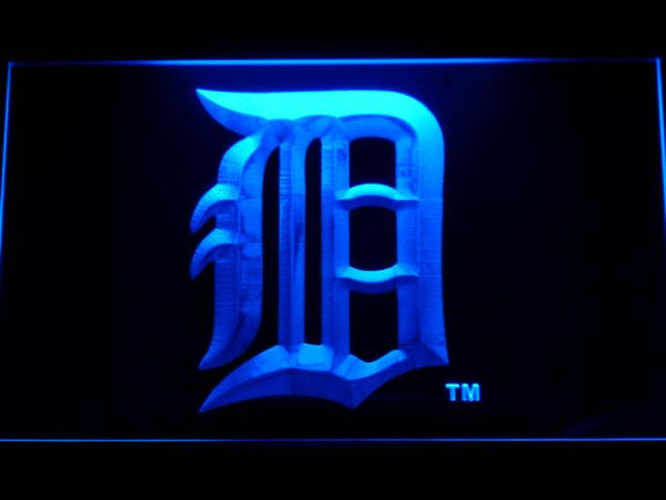 Detroit Tigers MLB LED Neon Sign b644 - Blue