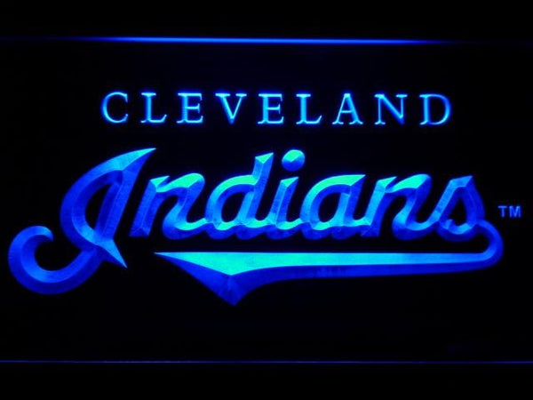 Cleveland Indians 1994-2011 LED Neon Sign b658 - Blue