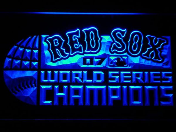 Boston Red SOX 2007 Champion Logo LED Neon Sign b692 - Blue