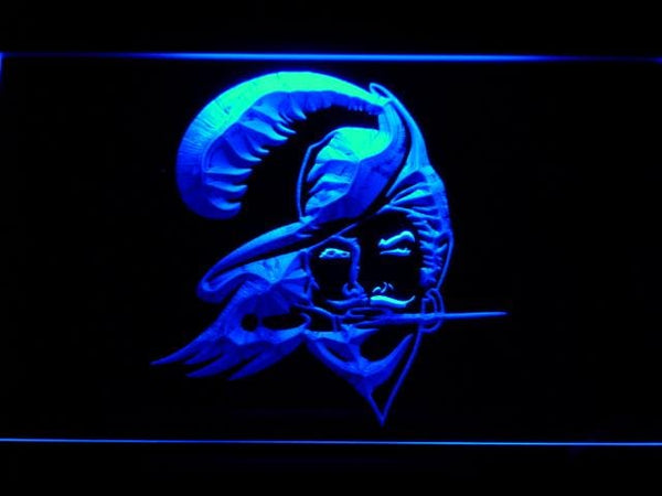 Tampa Bay Buccaneers 1976-1996 LED Neon Sign b769 - Blue