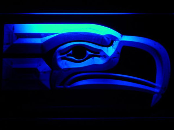 Seattle Seahawks 1976-2001 NFL LED Neon Sign b783 - Blue