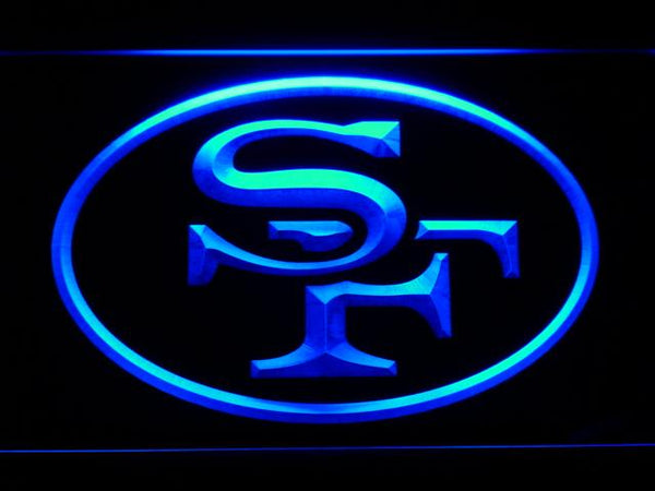 San Francisco 49ers 1968-1995 Logo LED Neon Sign b794 - Blue