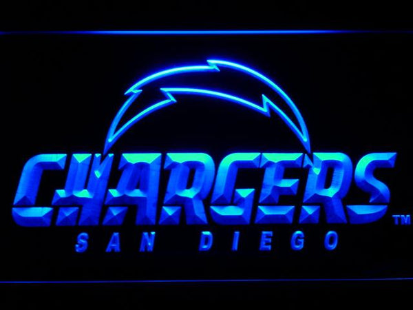 San Diego Chargers Football LED Neon Sign b803 - Blue