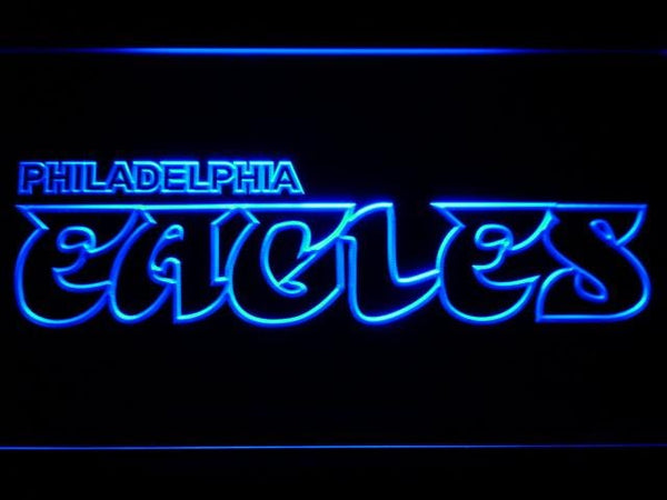 Philadelphia Eagles 1973-1995 LED Neon Sign b822 - Blue
