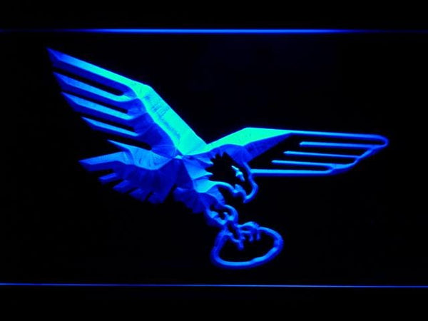 Philadelphia Eagles 1969-1972 LED Neon Sign b825 - Blue