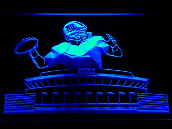 New York Giants QB Stadium LED Neon Sign b851 - Blue