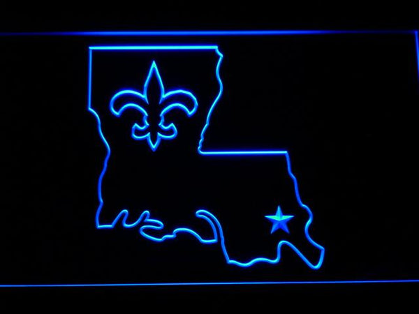New Orleans Saints 2000-2005 LED Neon Sign b859 - Blue