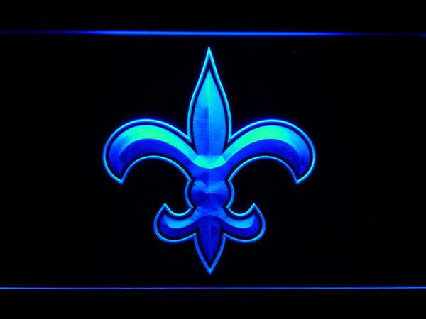 New Orleans Saints 1967-1999 LED Neon Sign b861 - Blue
