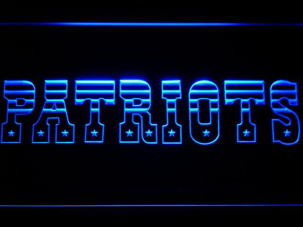 New England Patriots 1971-1992 LED Neon Sign b864 - Blue
