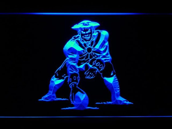 New England Patriots 1971-1992 Minute Man LED Neon Sign b865 - Blue