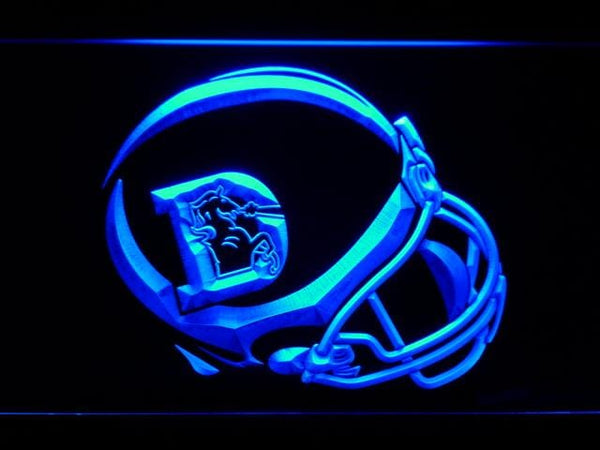 Denver Broncos 1975-1996 Helmet  LED Neon Sign b924 - Blue