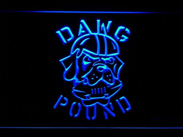 Cleveland Browns 1999-2002 Dawg Pound LED Neon Sign b944 - Blue