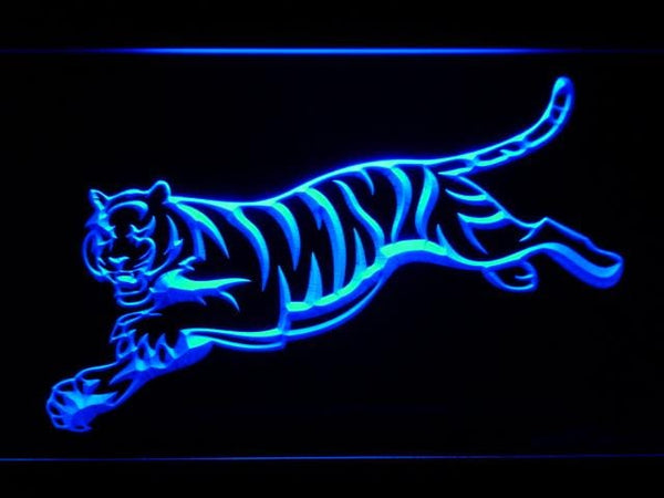 Cincinnati Bengals Tiger LED Neon Sign b952 - Blue