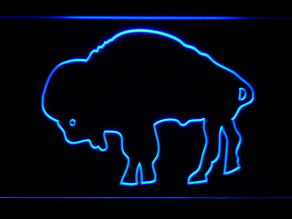 Buffalo Bills 1970-1973 Silhoutte Logo LED Neon Sign b976 - Blue