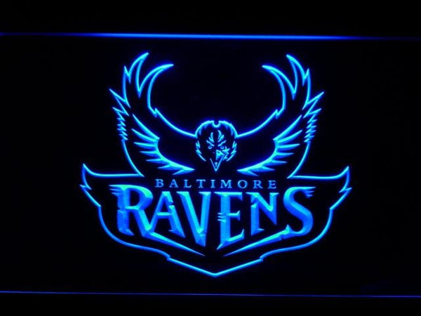 Baltimore Ravens 1996-1998 Logo LED Neon Sign b982 - Blue