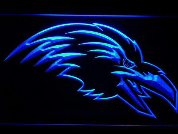 Baltimore Ravens 1996-1998 Raven Head LED Neon Sign b985 - Blue