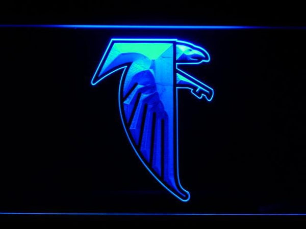 Atlanta Falcons 1990-2002 LED Neon Sign b988 - Blue