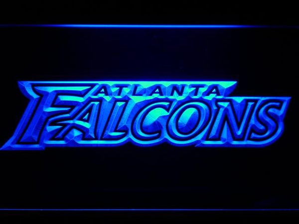 Atlanta Falcons Text LED Neon Sign b993 - Blue