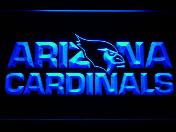 Arizona Cardinals NFL LED Neon Sign b999 - Blue
