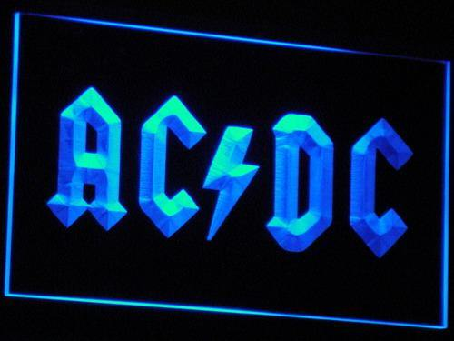 AC/DC Let There Be Rock  LED Neon Sign c005 - Blue