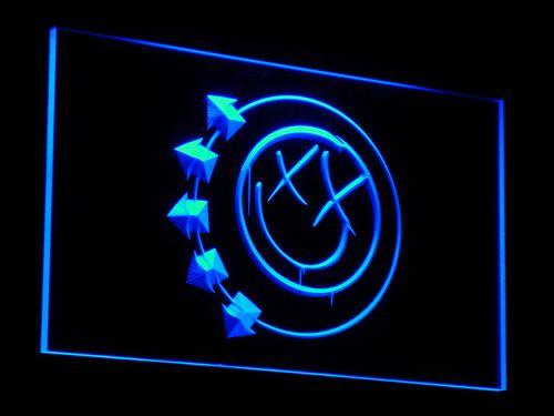 Blink 182 Band LED Neon Sign c007 - Blue