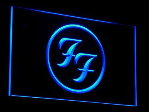 Foo Fighters Band LED Neon Sign c031 - Blue
