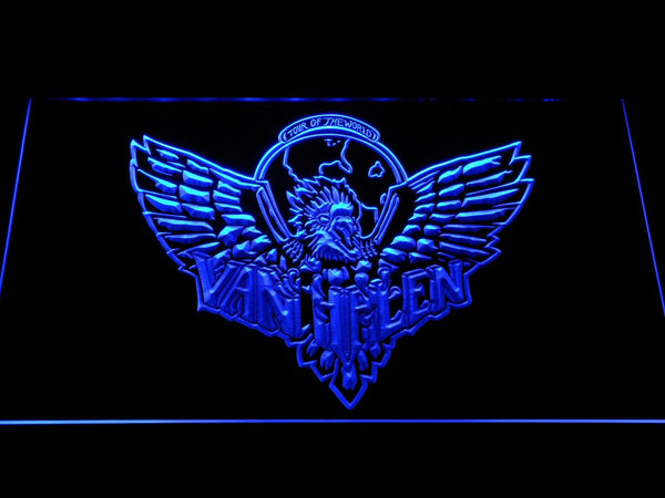 Van Halen Eagle LED Neon Sign c040 - Blue