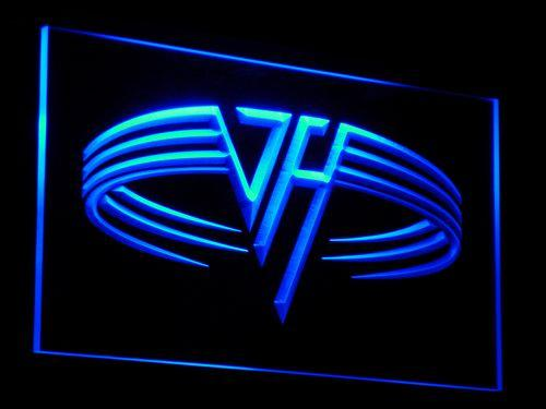Van Halen Band LED Neon Sign c041 - Blue