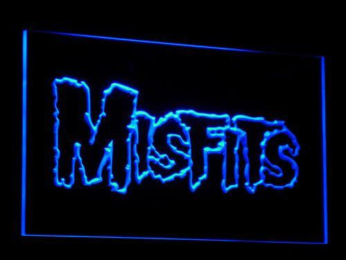 Misfits Comedy LED Neon Sign c069 - Blue