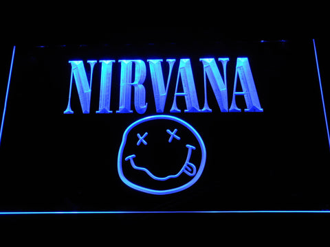 Nirvana Band LED Neon Sign c070 - Blue