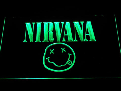 Nirvana Band LED Neon Sign c070 - Green
