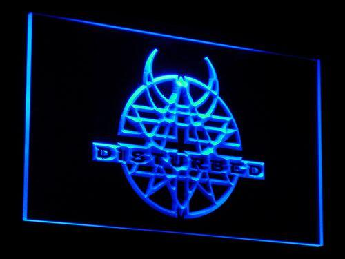 Disturbed Band LED Neon Sign c074 - Blue