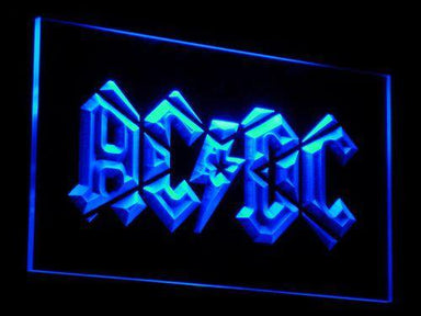 AC/DC Band LED Neon Sign c079 - Blue