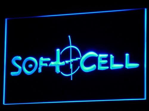 Soft Cell English Synthpop LED Neon Sign c080 - Blue