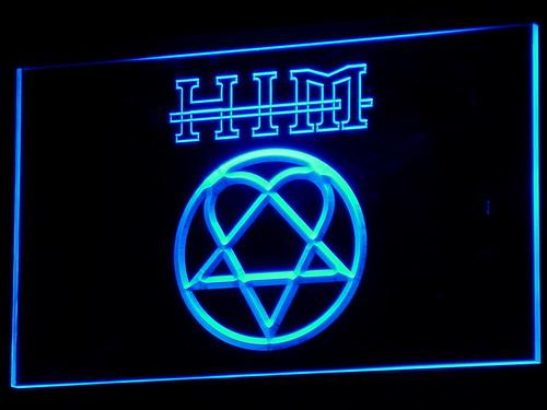 Him Finnish Gothic Rock Band  LED Neon Sign c082 - Blue