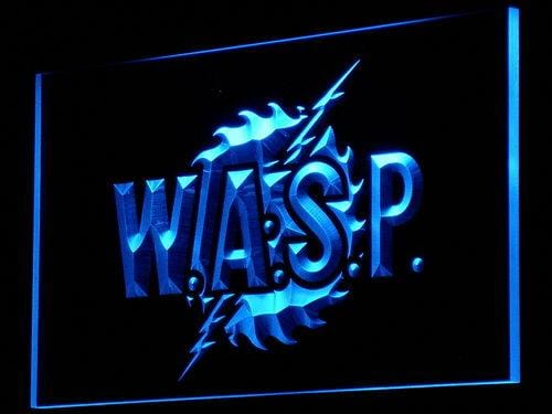 W.A.S.P Band LED Neon Sign c086 - Blue