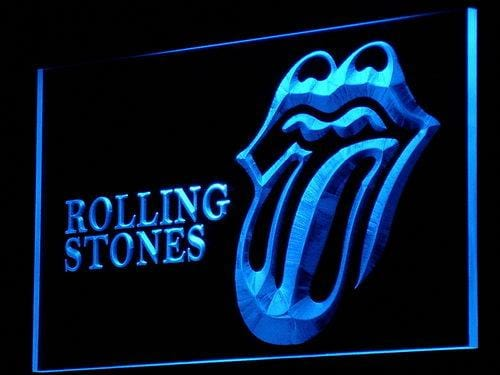 Rolling Stones Band LED Neon Sign c088 - Blue