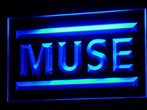 Muse Rock Band LED Neon Sign c089 - Blue