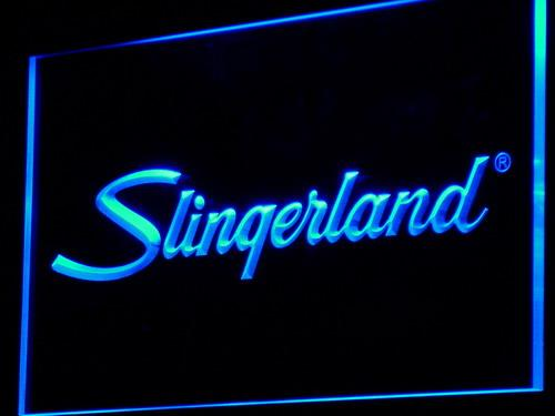 Slingerland Percussion Drums LED Neon Sign c090 - Blue