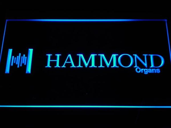 Hammond Organs Keyboards Speaker LED Neon Sign c091 - Blue