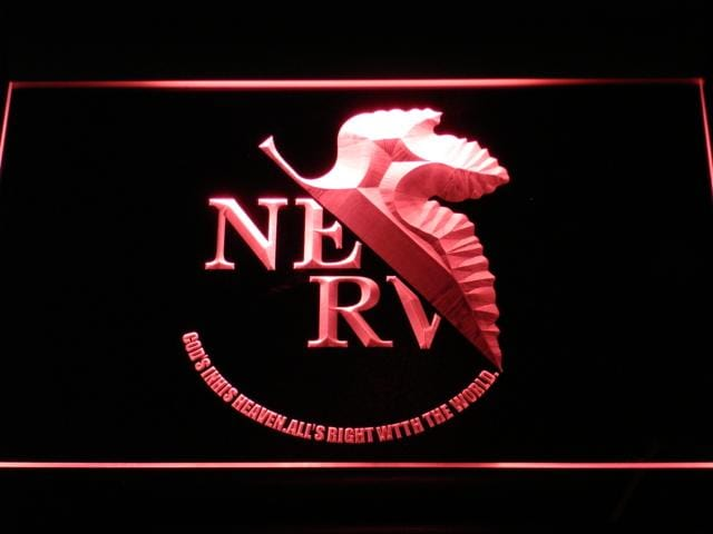 Neon Genesis Evangelion Logo LED Neon Sign c105 - Red