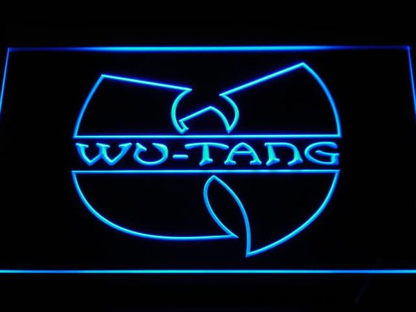 Wutang Clan Band LED Neon Sign c110 - Blue